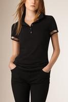 brand clothes cheap - Designer Women T shirt Famous Brand Cotton Fashion Tee Classic Plaid T Shirt Casual Summer Ladies Tops Cheap Luxury Clothes