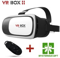 Wholesale NEW Google cardboard VR BOX II Version VR Virtual Reality D Glasses For inch Smart phone Bluetooth Controller