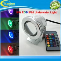 Wholesale Waterproof DC12V W IP68 RGB LED Underwater Light for Swimming Pool Pond Aquarium Colors Change With IR Remote