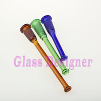 Wholesale Smoking downstem diffuser colorful glass downstem smoking glass diffuser for glass pipes and bongs Shower inFemale outMale style Color