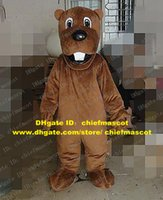 big front teeth - Powerful Brown Marmot Groundhog Bobac Tarabagane Sisel Mascot Costume Cartoon Character Mascotte Big Front Teeth ZZ545 Free Sh