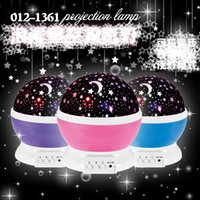 Wholesale Rotating color changing Star Moon Sky Cosmos Night Projector Atmosphere lamp Dazzle colour projection light star light grams