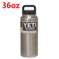 aluminum sports bottles - 36oz Yeti Outdoor Sport Coolers Stainless Steel Vacuum Flask Bottle Car Cup Travel Mug