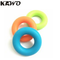 Wholesale Hand Grips Muscle Power Training Green Rubber Ring Exerciser Finger Hand Grip Easy Carry Hand Gripper Gripping Ring