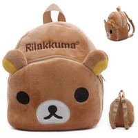 best baby design - 2016 best selling Rilakkuma baby bag plush shool bags kids backpack lovely design mini bags for child birthday Christmas gift