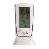 Wholesale 2016 Blue Backlight Digital Alarm Clock Electronic Desktop Clock Table Led Clock Watch Snooze reloj despertador