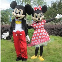 Wholesale Lovely Mickey and Minnie Mouse Mascot Costume Cartoon adult size