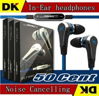 Wholesale Cheapest Price Mini cent SMS Audio cent In Ear headphones with Mic earphone STREET by Cent x50