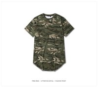 Cheap 2016 Mens O-neck T Shirt Summer Arc Cut Tops Tees Hip Hop Clothes Kanye West Military Army YEEZY Camouflage T-shirts 2 Colors