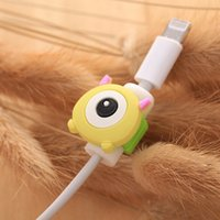 Wholesale Cartoon USB Data Cable Line Protector Anti Breaking Protective Sleeve For Lightning Charging Cable Cord Earphone Line For iPhone