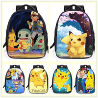 Wholesale New cute cartoon backpack fashion backpack children Leisure backpack pikachu backpack student school bags A0354