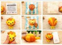 Wholesale pieces cm Japan original ChanZhengPin packaging cm lion doll squishy mobile phone s accessories