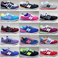 al por mayor nuevos equilibrios-¡Venta caliente! 2016 nuevo Otoño Unisex Zapatos La nueva manera equilibrada ocasional de Dropship de los hombres de los hombres calza tamaño 36-44 Multi-Color