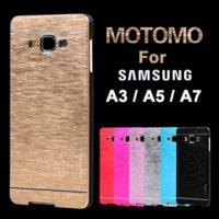 Wholesale For Samsung A3 Motomo Luxury Aluminum Metal Brush Plastic Case For Samsung Galaxy A3 Phone Cases For Galaxy A3 A5 A7
