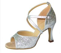aa discounts - 2016 women fashion gold Glitter Open Toe Dance Shoe Ballroom Salsa Latin Tango Bachata Dancing Dance Shoes big discount