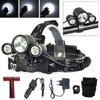 Wholesale NEW LIGHT Lumens x C XM L T6R2 LED Headlight T6 Headlamp Bicycle Bike Light Waterproof Flashlight