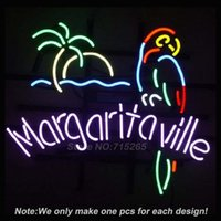 Wholesale Jimmy Buffett Margaritaville Neon Light Sign Real Glass Tube Handcraft Custom LOGO Neon Bulbs Recreation Room Wall Sign VD x15