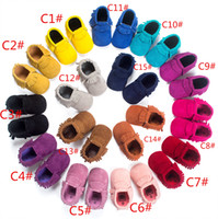 Wholesale BX163 Hot sale high quality baby moccasins kids moccs baby shoes sandals fringe shoes hot moccs