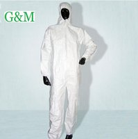 Wholesale Non woven protective clothing one piece breathable membrane protective clothing waterproof oil anti static isolation B81617