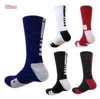 ankle high stockings - USA Professional Elite Basketball Socks Long Knee Athletic Sport Cotton Socks Men Fashion Compression Thermal Winter Socks High Quality XNV