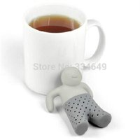 best teapot - Coffee Tea Sets silicone mr tea Teapot cute Mr Tea Infuser Tea Strainer Best Selling