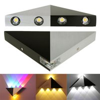 Wholesale 3W W Aluminum Triangle Led Wall Light Energy Saving Led Home Lighting Lamp Indoor Outdoor Decoration Lights