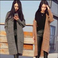 Wholesale 2016 Autumn Winter Fashion Women Long Sleeve comfortable loose knitting cardigan sweater Womens Knitted Female Cardigan pull femme girl coat