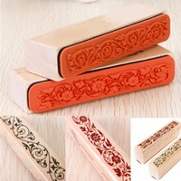 Wholesale Beautiful Design The Best Price Wooden Rubber Flower Lace Stamp Floral Seal Scrapbook Handwrite Wedding Craft For Decoration