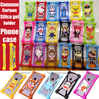 apples rubber bumpers - Universal Phone Case D Cartoon Minions Universal Rubber Silicone Phone Bumper Case For Iphone7 S Plus Samsung Galaxy S6 Edge