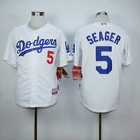 Wholesale Los Angeles Dodgers Corey Seager LA Baseball Jerseys Throwback Grey White Blue Cool Top Quality on Sale
