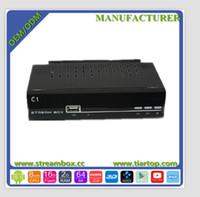 Singapur cuenta IKS compartida a Internet IPTV HD digital por cable DVB-S2 MPEG4 actualización / H.264 HD de HD-C1 receptor de satélite de TV de la caja negra