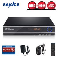Wholesale SANNCE CH AHD N DVR Video CCTV home security System Dome P IR outdoor Security Cameras Surveillance DVR Kits