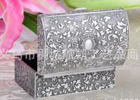 Wholesale European Style Jewel Case Zinc Alloy Treasure Chest Retro Jewelry Box Treasure Box Classical Gift Fancy Present Superb Quality