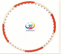 Wholesale New magnet detachable massage hard tube hula hoop lose weight thin waist reduction fitness tool