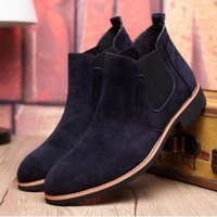 ankle boots dresses - 2016 hot sale Vintage Suede Chelsea Men Leather Boots British Style Men s Ankle Boot For Autumn Winter Male Nubuck Dress Shoes