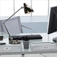 Cheap 2015 new style modern LED three sections of dimmer folding desk lamp office study original table light eye protection long arm metal dimmabl