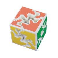 Wholesale Puzzles Magic Cubes Kids Children s Toys Gear Order White Bottom Sticker Edition Magic Cube Puzzle Toys Tooth Deformation Cube