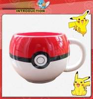 Wholesale Cute Poke Go Pokeball cups Pikachu mug Ceramic Coffee Mugs Tea Water Bottle Cup for Christmas gifts