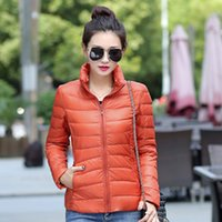 Wholesale Winter Women Down Coat Jacket Ultra Light Stand Collar Jacket Coat Women Clothes Parka Winter Jacket Casaco Pocketable FS0745
