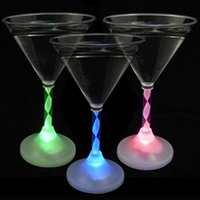plastic barware - Cocktail Light up Drink Wine Cup Barware Blinking LED Flashing Martinis Glow Plastic Cup