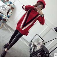 american standard doors - Fall new pullovers female loose Han Guodong door long knitted garment college the wind