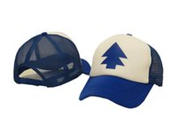 pine tree - Cosplay Costume Dippers Blue Pine Tree Unisex Adult Trucker Hat One Size Gravity Falls Fashion summer cap classic sport gorras baseball caps
