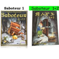 Wholesale In stock Saboteur Card game version with english instruction jeu de base extension board game