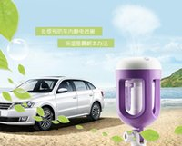 Wholesale Power Protection Humidifier Aromatherapy Essential Oil Diffuser Air Purify Blue Green Pink Purple USB Car Styling Retail Box