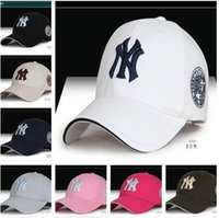 Cheap 11 Color Yankees Hip Hop MLB Snapback Baseball Caps NY Hats MLB Unisex Sports New York Adjustable Bone Women casquette Men Casual headware