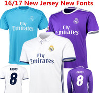 Wholesale Benwon New Madrid Soccer Jersey RONALDO home white jersey away JAMES BALE BENZEMA MODRIC top thai quality football shirt soccer wear