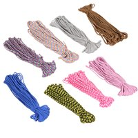 Wholesale 8 Colors Paracord Parachute Cord Lanyard Rope Mil Spec Type III Strand FT Survival Rope For Outdoor Hiking Climbing