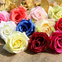 quality silk flowers - Silk rose head flowers rose heads artificial flowers inch dia fake flowers head high quality silk flowers WR007