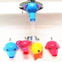Wholesale Cheap New Kids Faucet Extender Helps Toddler Kids Reach Faucets Bathroom Hand Washing Little Children Babys Cute Animals Cartoon Three Colo