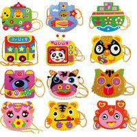 Wholesale EVA Cartoon Handmade Bags DIY Hand sewing Educational Toys for Children